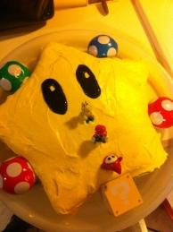 Mario Star Cake
